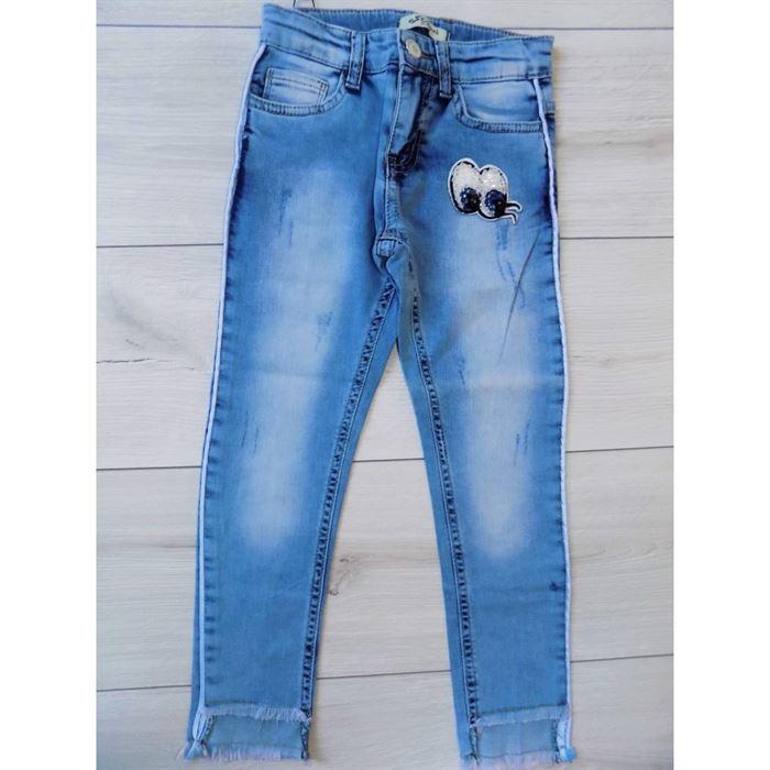 Jeansy z naszywką
