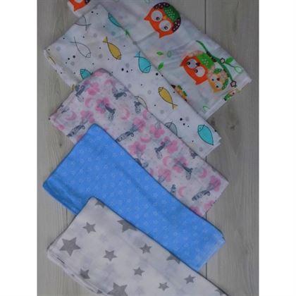 Zestaw 5 sztuk pieluszek tetrowych