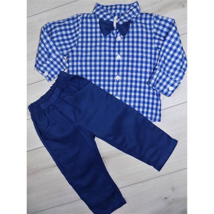 Mały elegancik w kolorze niebieskim