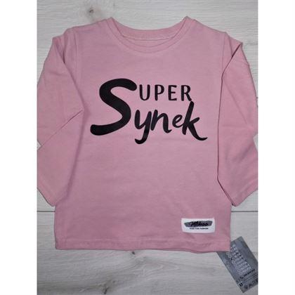 """Longsleeve """"Super Synek"""" różowy"""
