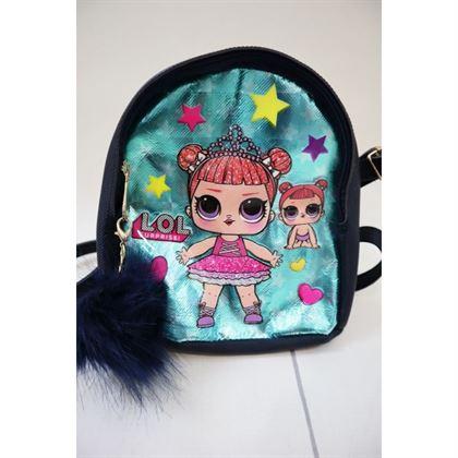 Granatowy plecak z lalką LOL