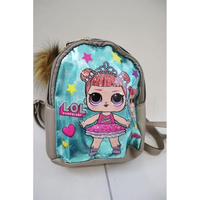 Plecak z lalką LOL beżowy