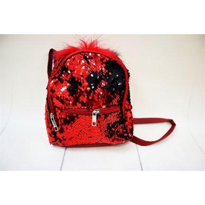 Cekinowy czerwony magiczny plecak 1