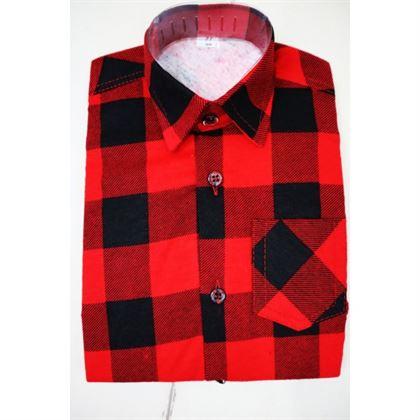 Koszula w kratę czerwono-czarna