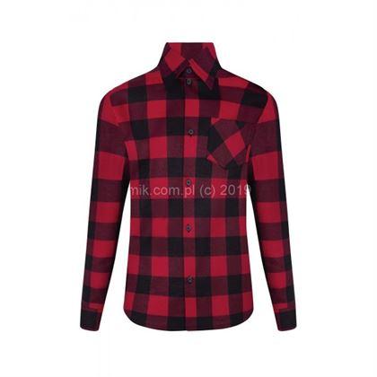 Koszula w kratę czerwono-czarna 2