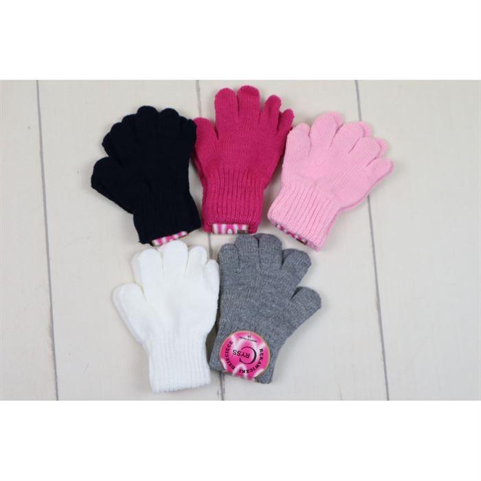 Rękawiczki gładkie dla dziewczynki