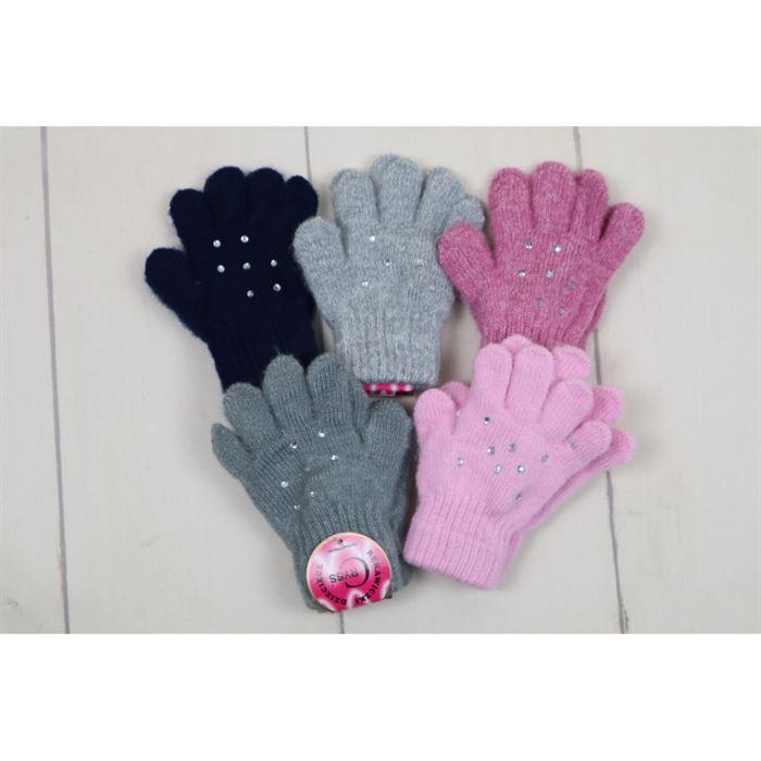 Rękawiczki 5-palców z błyskotkami