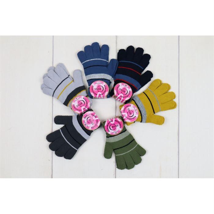 Rękawiczki 5-palców w paski 1