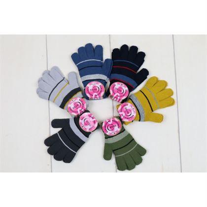 Rękawiczki 5-palców w paski 2
