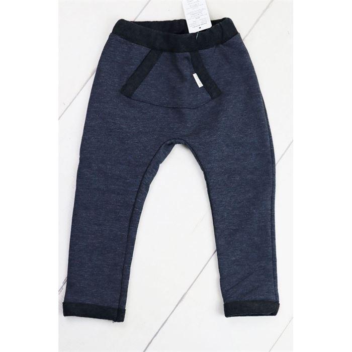 Szare spodnie z kieszonką i czarnymi szwami