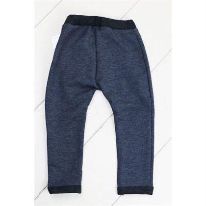 Szare spodnie z kieszonką i czarnymi szwami 1