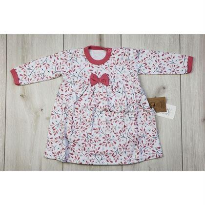 Sukienko-body w kwiatuszki z kokardką
