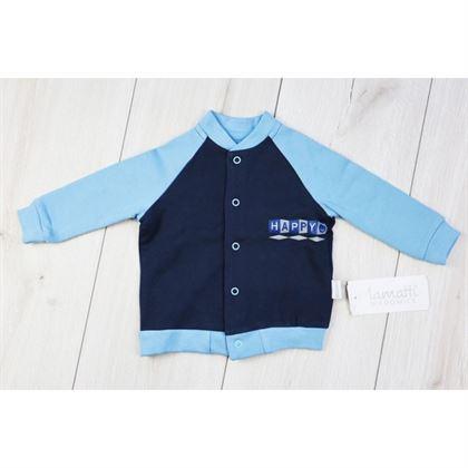 Bluza HAPPY z błękitnymi rękawami