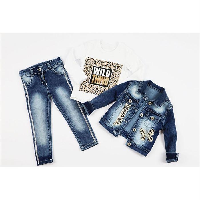 Komplet jeansowy 3-częściowy dla dziewczynki