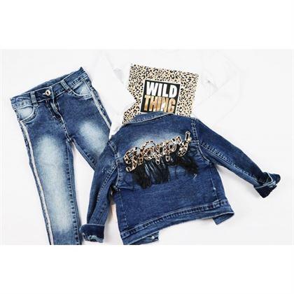 Komplet jeansowy 3-częściowy dla dziewczynki 1