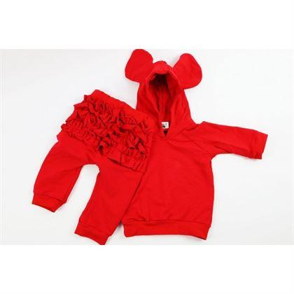 Czerwony komplet dresowy dla dziewczynki
