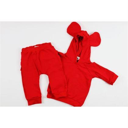Czerwony komplet dresowy dla dziewczynki 1