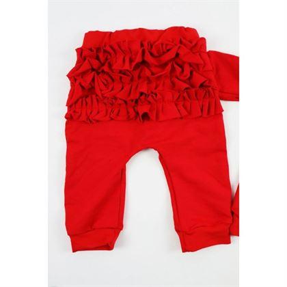Czerwony komplet dresowy dla dziewczynki 2