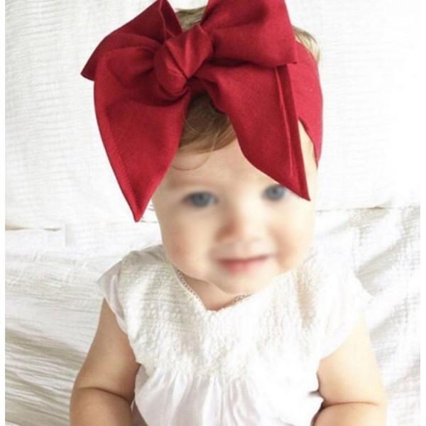 Czerwona wiązana opaska dla dziewczynki