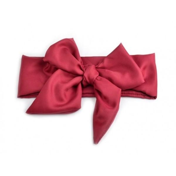 Czerwona wiązana opaska dla dziewczynki 1
