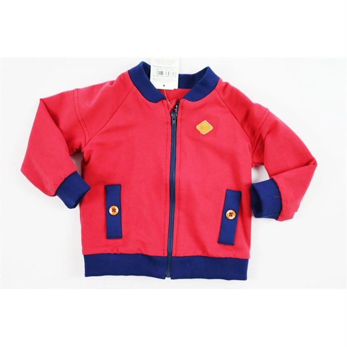 Bordowa bluza z granatowymi lamówkami unisex