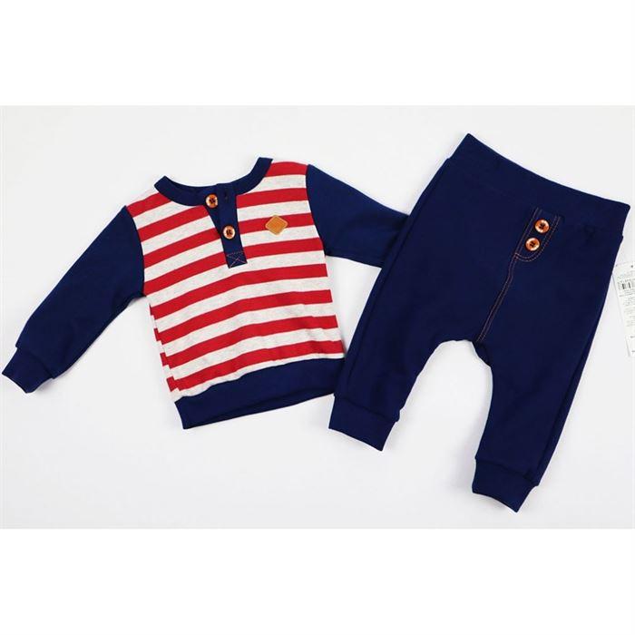 Komplet marynarski spodnie i bluza w paski