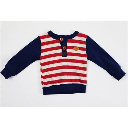 Komplet marynarski spodnie i bluza w paski 1