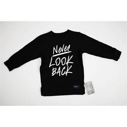 """Bluza """"Never Look Back"""" z basicowego materiału"""