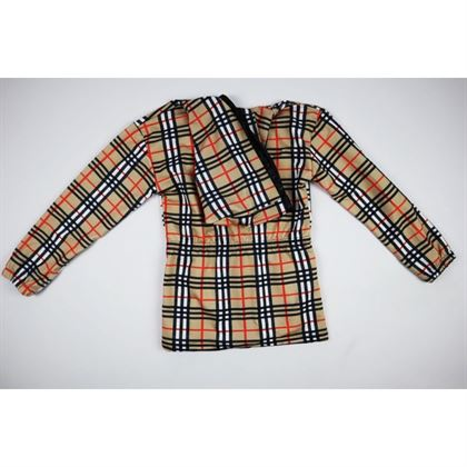 Rozpinana bluza w kratę z kapturem 1
