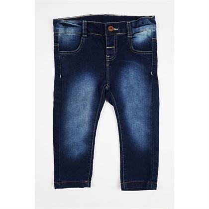 Ciemne jeansy z przetarciami