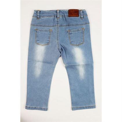 Jasne jeansy z przetarciami