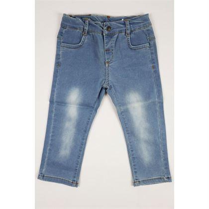Jasne jeansy z przetarciami 1