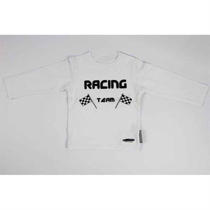 """Longsleeve """"Racing team"""" biały"""