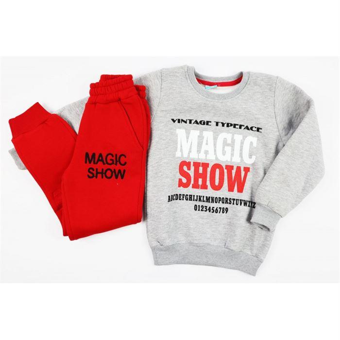 """Komplet dresowy szaro-czerwony """"Magic show"""" 3"""