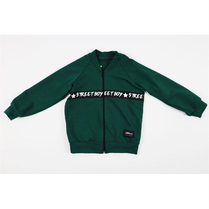 Rozpianana zielona bluza dla chłopca