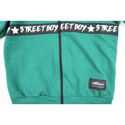 Rozpianana zielona bluza dla chłopca 1