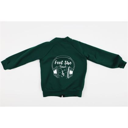 Rozpianana zielona bluza dla chłopca 2