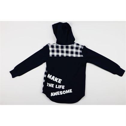 "Granatowa bluza ""Make the life awesome"""