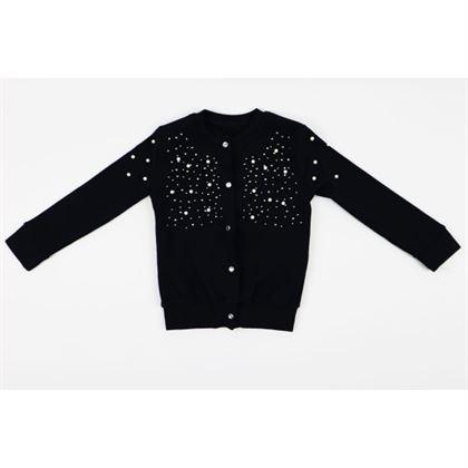 Rozpinany sweter z błyskotkami 1