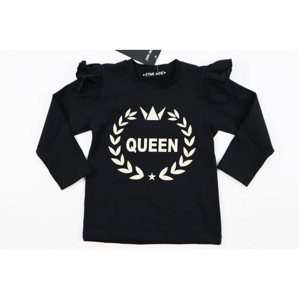 Czarny longsleeve Queen