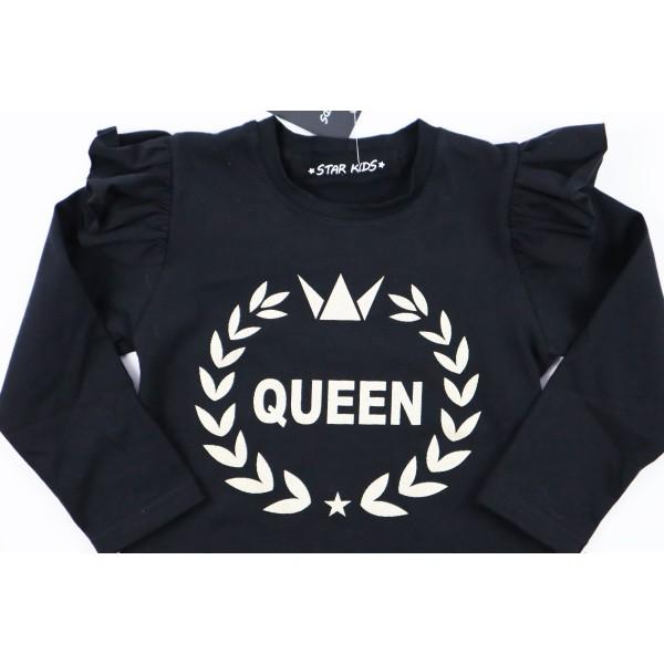 Czarny longsleeve Queen 1