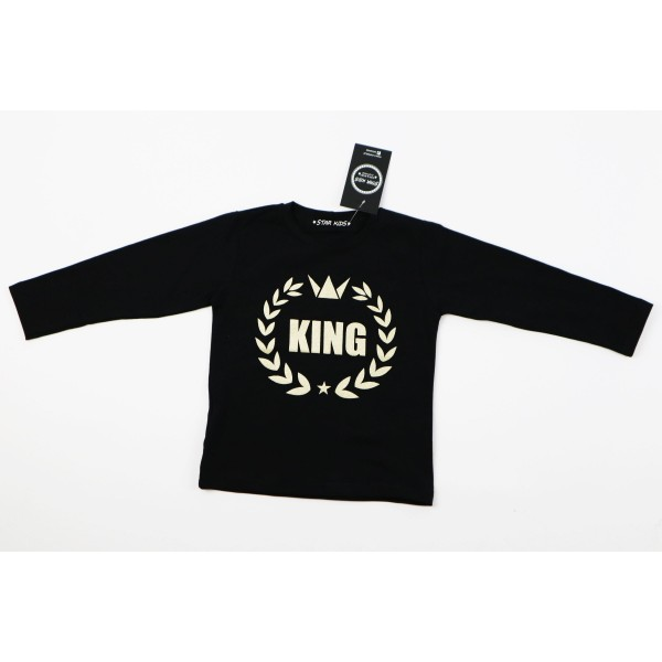 Czarny longsleeve KING