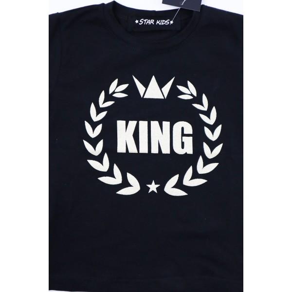Czarny longsleeve KING 1