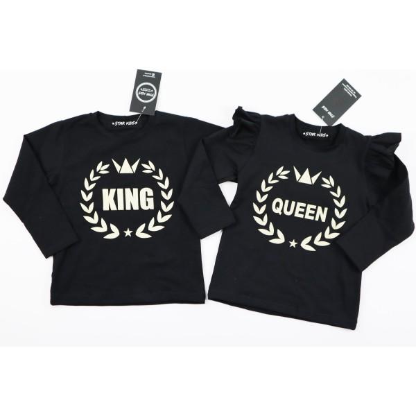 Czarny longsleeve KING 2