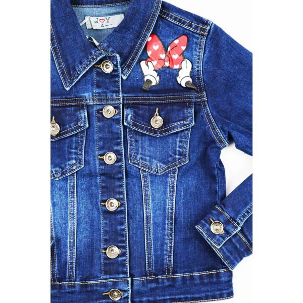 Kurtka jeansowa z Myszką Miki 2