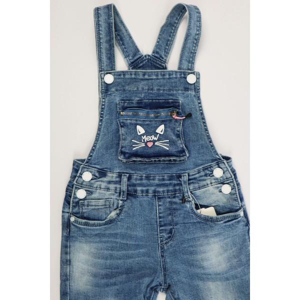 Jeansowe ogrodniczki 1