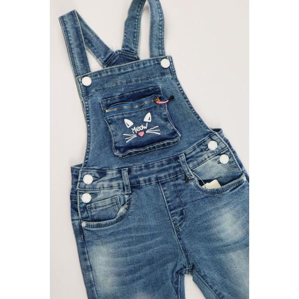 Jeansowe ogrodniczki 3