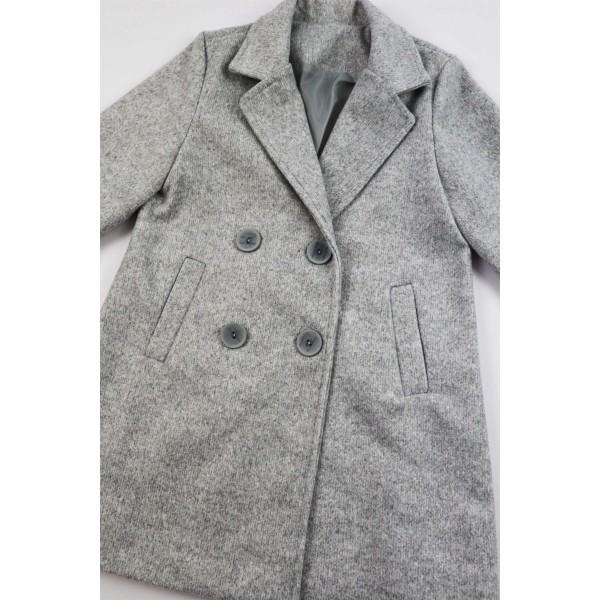 Szary płaszcz prochowiec 1