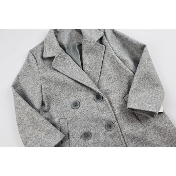 Szary płaszcz prochowiec 2