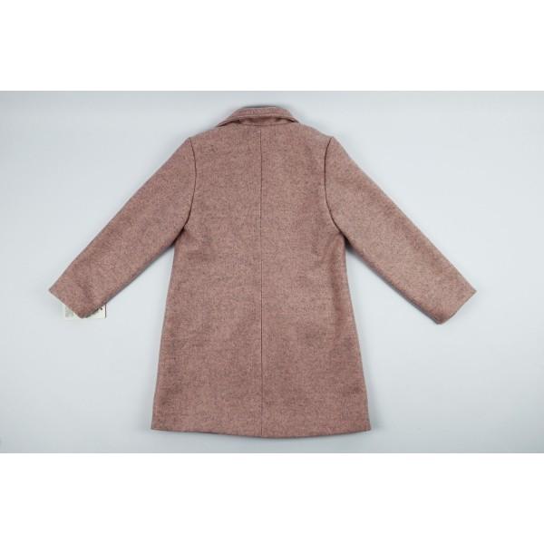 Różowy płaszcz prochowiec z kołnierzem 5